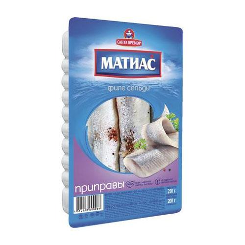 Сельдь филе МАТИАС Приправы, 250г