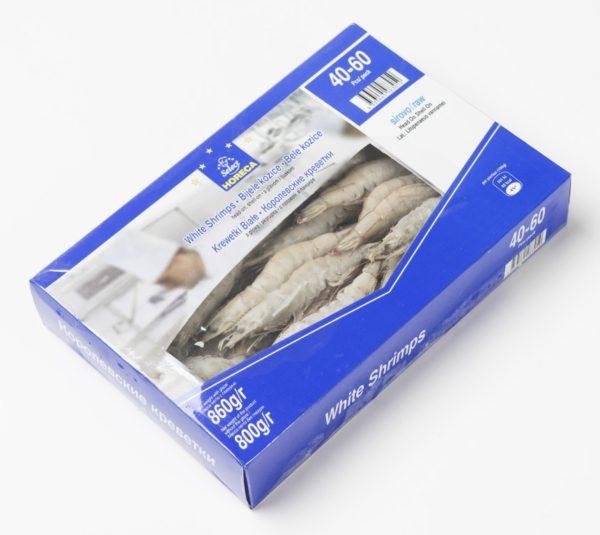 Креветки HORECA SELECT 40/60 свежемороженые с головой, 860 г