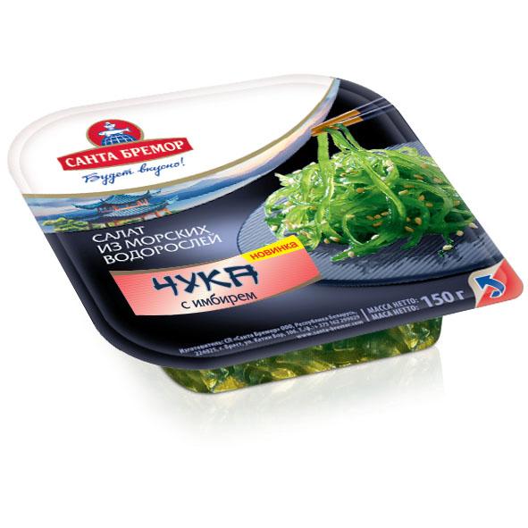 Салат из морских водорослей Чука САНТА-БРЕМОР с имбирем, 150 г