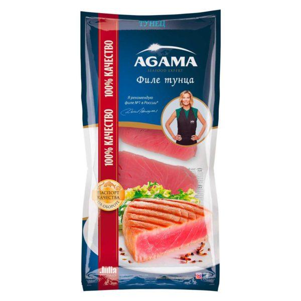 Филе тунца AGAMA свежемороженое, 400 г